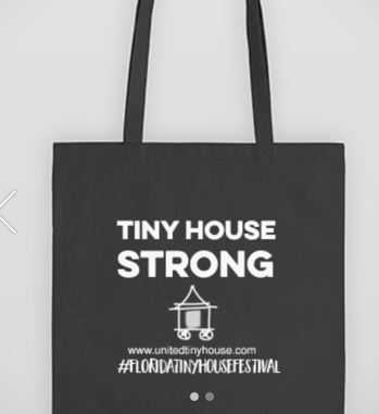Tiny House Tote Bag - Tiny House Strong