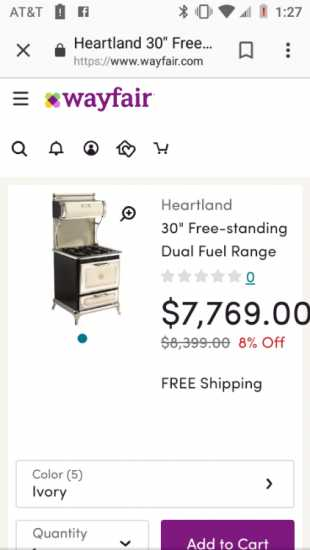 Heartland ceramic stove and oven