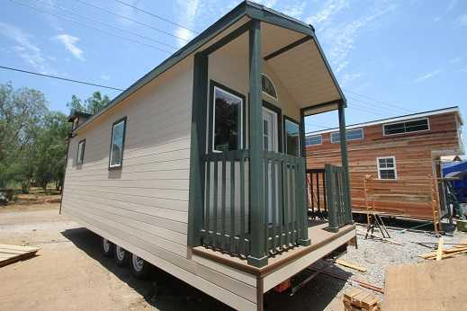 9 x 28 COUNTRY COTTAGE TINY HOUSE FOR SALE W/ LOFT