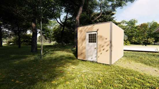 Pad 102 SQF, Modular Office, Prefabricated Tiny Ho