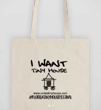 Tiny House Tote Bag - I Want a Tiny House